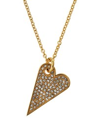 Rebecca Minkoff 14K Gold Plated Crystal Heart Pendant Necklace