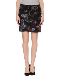 Mauro Gasperi Knee Length Skirts Dark Blue