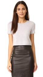 Theperfext Doheny Cropped Cashmere Sweater Foggy