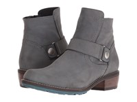 Wolky Gila Cw Asphalt Mistique Nubuck Women's Pull On Boots Gray