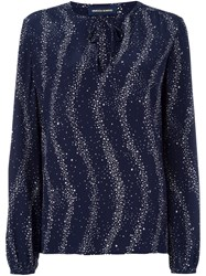 Vanessa Seward Star Print Blouse Blue