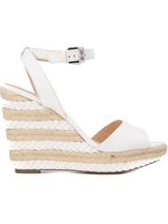 Michael Michael Kors Wedge Espadrille Sandals White