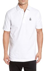 Psycho Bunny Men's 'Ambleside' Pima Cotton Pique Polo White