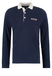 Abercrombie And Fitch Polo Shirt Navy Solid Dark Blue