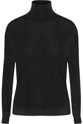 Stella Mccartney Wool And Silk Blend Turtleneck Sweater Black