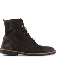 Golden Goose Deluxe Brand Distressed Lace Up Boots Black
