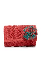 Mar Y Sol Anabel Clutch Coral