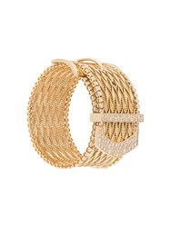 Aurelie Bidermann 'Polonaise' Couture Diamond Cuff Metallic