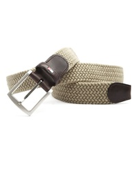 Tommy Hilfiger Adam Beige Braided Elastic Belt