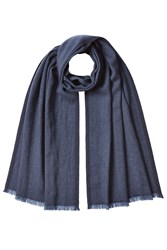 Jil Sander Scarf With Virgin Wool And Cashmere Blue