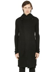 Rick Owens Hooded Cashmere Long Cardigan