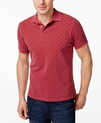 Barbour Men's Polka Dot Polo Raspberry