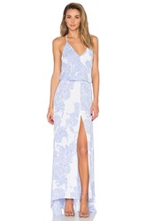 Karina Grimaldi Draco Maxi Dress Blue