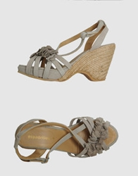 Espadrilles Platform Sandals Grey