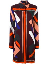 Emilio Pucci Geometric Print Shirt Dress