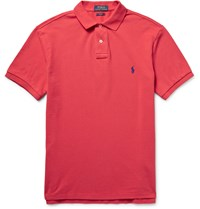 Polo Ralph Lauren Slim Fit Cotton Pique Polo Shirt Red