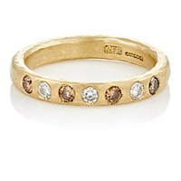 Malcolm Betts Women's Mixed Diamond Band Gold Brown No Color Gold Brown No Color