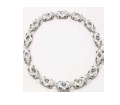 Fabio Salini Necklace Vertigo With Moonstone Mother Of Pearl Diamonds And Rock Crystal White