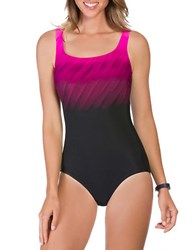 Reebok Wind Blown Scoopback One Piece Swimsuit Pink