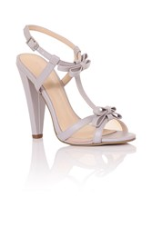 Paper Dolls Bow Barely There Heels Lilac