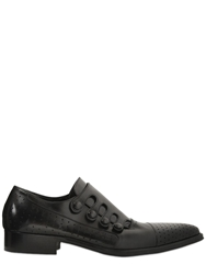 Jo Ghost 20Mm Perforated Leather Monk Strap Shoes Black