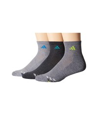 Adidas Color Cushioned 3 Pack Quarter Socks Assorted Men's Quarter Length Socks Shoes Multi
