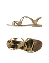 Manas Lea Foscati Thong Sandals Dark Blue