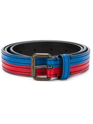 Tomas Maier Contrast Buckle Belt Blue