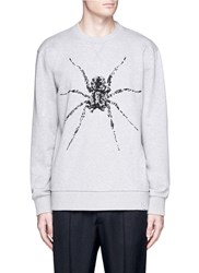 Lanvin Spider Embroidered Sweatshirt Grey
