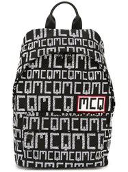Mcq By Alexander Mcqueen Logo Print Backpack Black