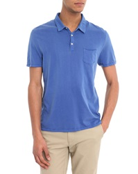 Harris Wilson Roman Polo Shirt With Pocket Faded Ocean Jersey