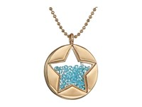 Betsey Johnson Blue Shaky Star Pendant Necklace Blue Necklace