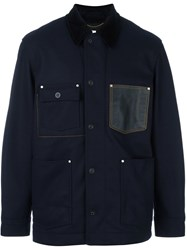 Coach Boxy Jacket Blue