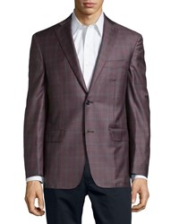 Ike Behar Glen Plaid Sport Coat Camel