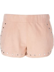 Drome Studded Shorts Pink And Purple