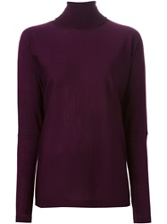 P.A.R.O.S.H. Floaty Turtleneck Jumper Pink And Purple