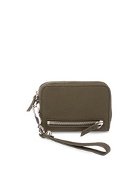 Alexander Wang Fumo Large Zip Around Wristlet Wallet Grass