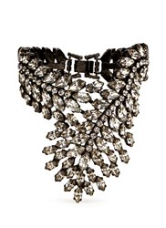 Erickson Beamon 'Frequent Flyer' Swarovski Crystal Statement Cuff White Metallic