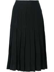 Yves Saint Laurent Vintage Pleated Skirt Black