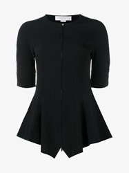 Stella Mccartney Knitted Top With Front Zip Black