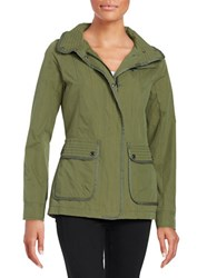 7 For All Mankind Peached Cotton Jacket Olive