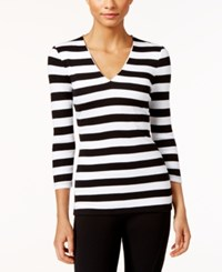 Inc International Concepts Striped Rib Knit Top Only At Macy's Even Stripe