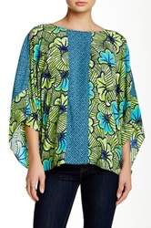 Yoana Baraschi Jungle Rose Kaftan Blouse Green