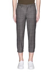 Neil Barrett Glen Plaid Cropped Wool Jogging Pants Multi Colour