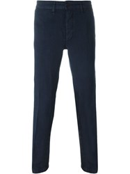 Massimo Alba Slim Fit Trousers Blue