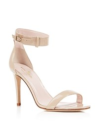 Kate Spade New York Isa Patent Ankle Strap High Heel Sandals Powder