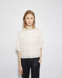 3.1 Phillip Lim Boxy Tweed Top Cream