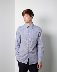 Marni Polo Collar Shirt Blue China White