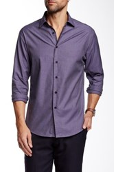 Vince Camuto Sportswear Long Sleeve Sport Slim Fit Shirt Purple