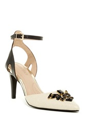 Ellen Tracy Prom Ankle Strap Pump White